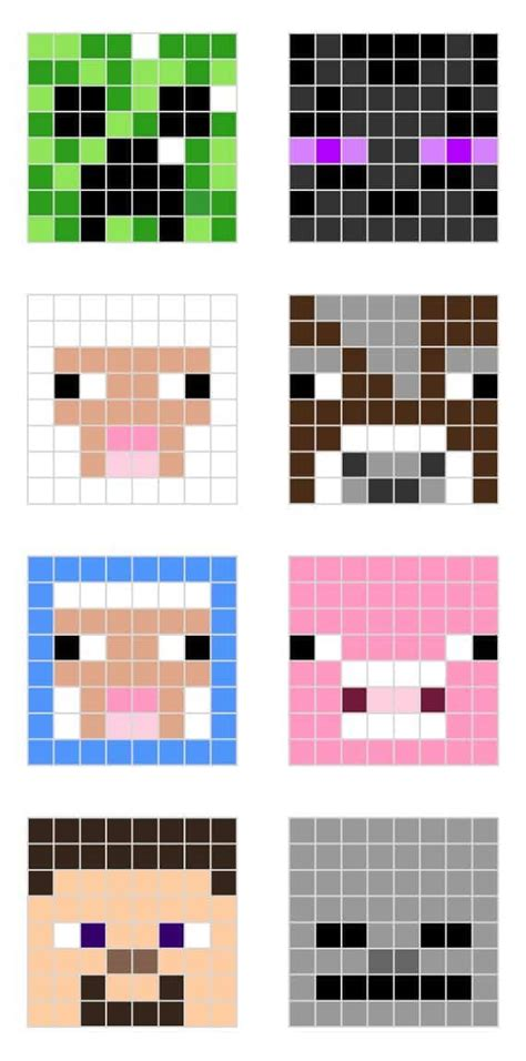 how to make minecraft pixel templates minecraft character pixel templates minecraft
