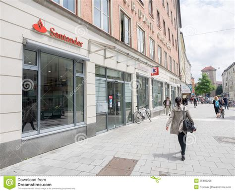 santander bank münchen santander munich editorial photo image 55483296
