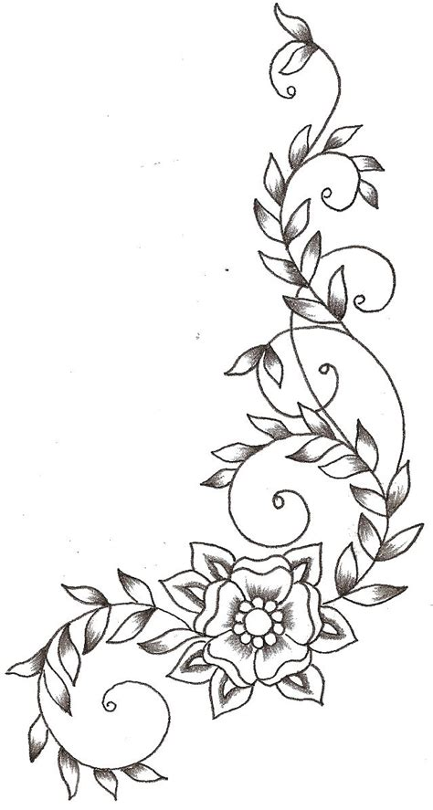 drawing vines pattern vines and flower by thelob on deviantart