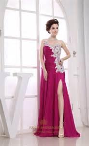 robe de mariã e le havre evening dress side split beaded chiffon covered prom dress a line one shoulder floor