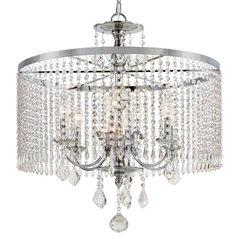 Home Chandelier Lighting Fifth And Lighting 6 Light Polished Chrome Chandelier