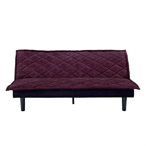 futon purple convertible futon sofa in purple and black 2030019