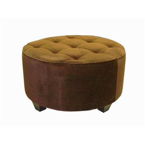 round velvet ottoman skyline furniture round velvet cocktail ottoman in