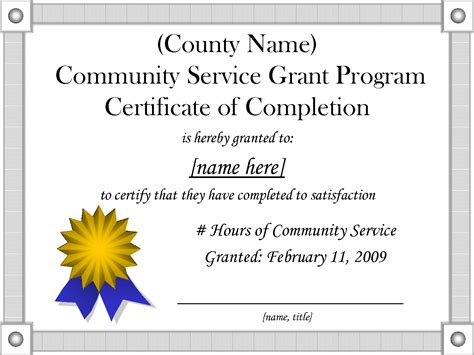 9 best images of community service hours certificate
