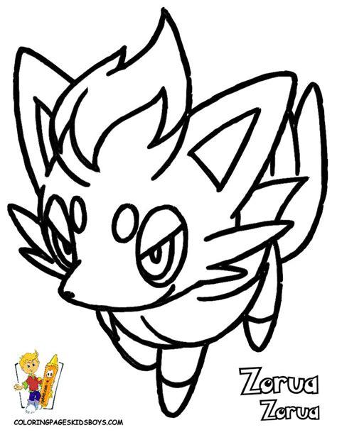 pokemon coloring pages of zorua pokemon pictures to print and color zorua pokemon print