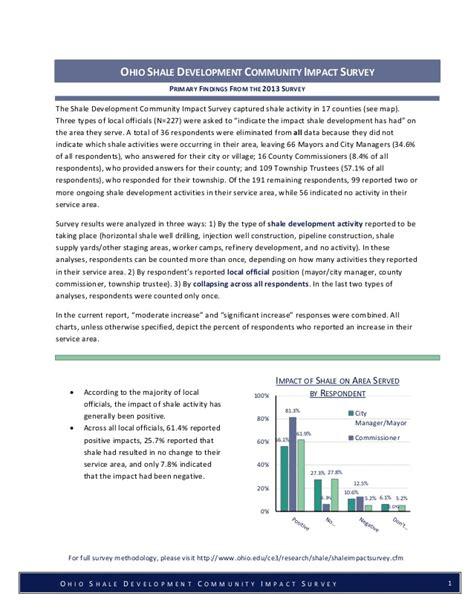 Oh Survey by Ohio S Ohio Shale Development Community Impact