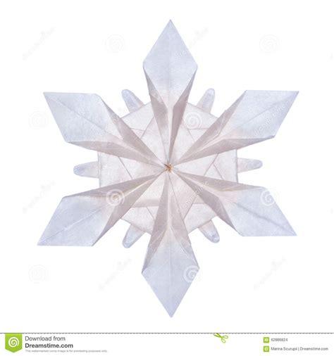 Origami Paper Snowflakes - origami snowflakes stock photo image 62886824