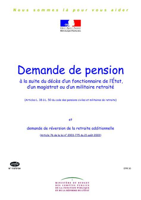 Demande De Retraite Lettre modele lettre demande pension de reversion contrat de