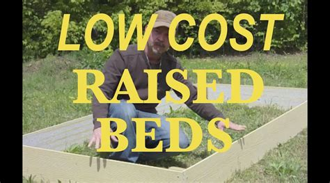 Raised Garden Bed Cheap - seriously cheap raised beds youtube
