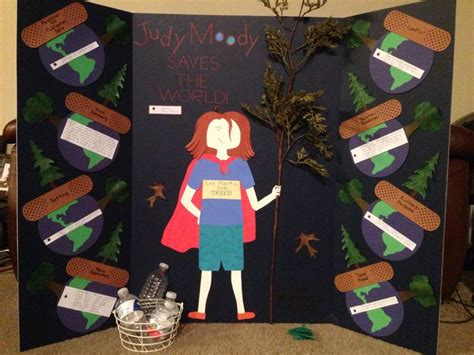 tri fold book report projects judy moody saves the world tri fold book report project