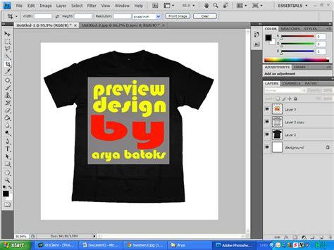 membuat desain x banner dengan photoshop membuat preview desain kaos dengan photoshop arya batoks