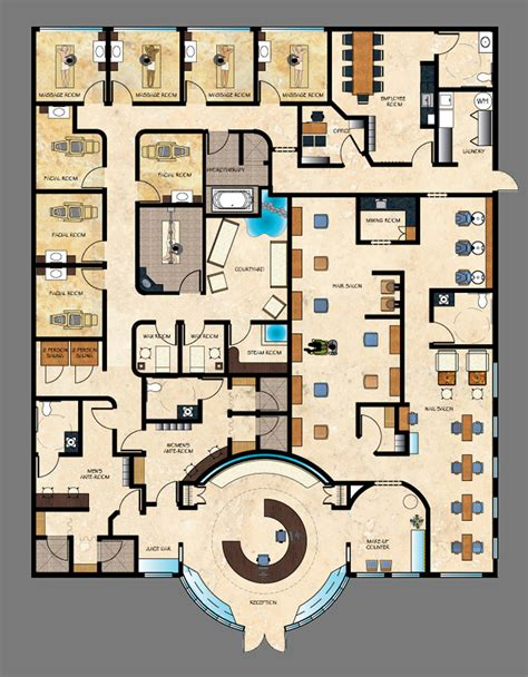 floor plan of spa cbell day spa