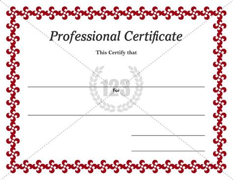 professional certificate templates and award professional certificates