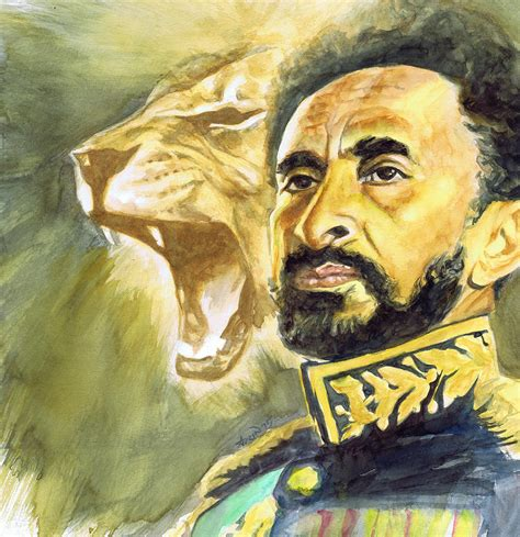 Home Decor Wallpaper Online by Haile Selassie I Lion Painting By Adrienne Norris
