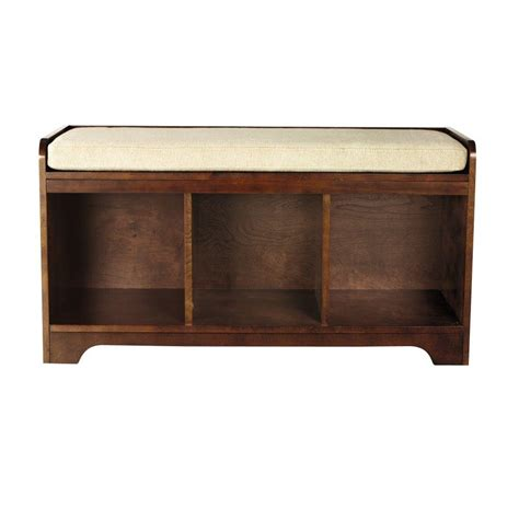 home decorators storage bench home decorators collection wellman espresso storage bench 1158210960 the home depot