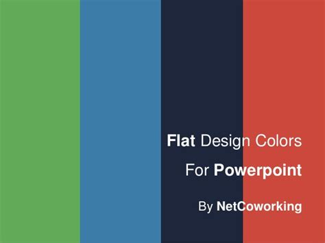 flat design powerpoint template powerpoint flat design colors backgrounds