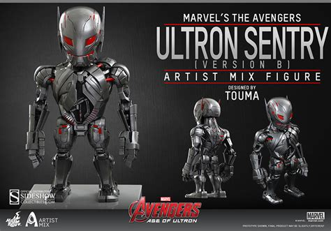 Toys Cosbaby Age Of Ultron Ultron Sentry marvel ultron sentry version b artist mix collectible figu sideshow collectibles