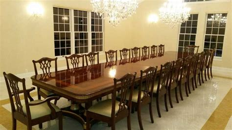 large dining room table seats 20 rattan wicker dining room chairs design ideas in various