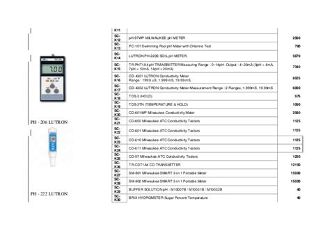 Lutron Ph 201 Pocket Ph Meter Pe 03 Ph Electrode Bundle infra systems price list and catalogue 1