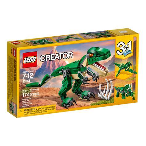 amazon lego amazon com lego creator mighty dinosaurs 31058 building