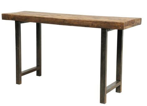 Unique Sofa Table by 68 Quot Reclaimed Distressed Wood Iron Legs Console