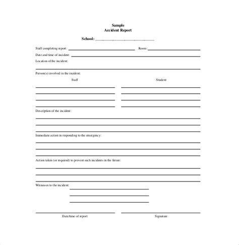 After Incident Report Template 16 Report Template Free Sle Exle