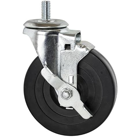 table casters with brakes threaded rubber casters w brake for wire shelving