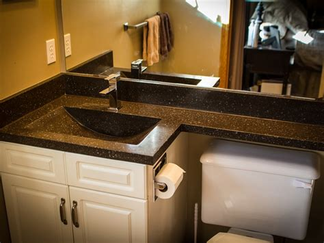 One Bathroom Sink Counter by Bathroom Countertops With Integrated Sinks Home Design Ideas