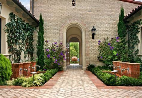spanish courtyard designs exterior design landscape design