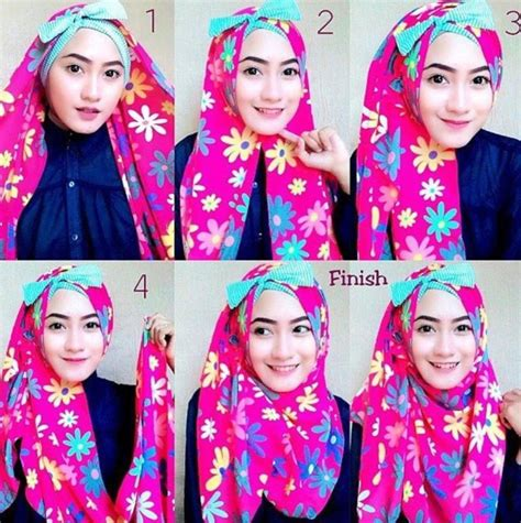 tutorial hijab simple untuk acara pesta tutorial hijab pesta simple segi empat modern terbaru 2016
