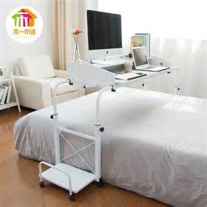 ikea simple tilt bed laptop table lazy to move across the