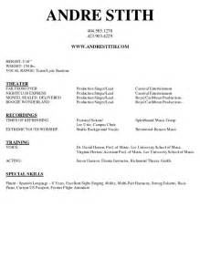 Theatre Resume Sle by Arts Resume Sales Lewesmr