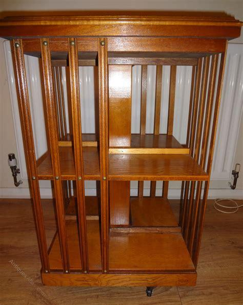 revolving bookshelves antiques atlas revolving yew wood bookcase