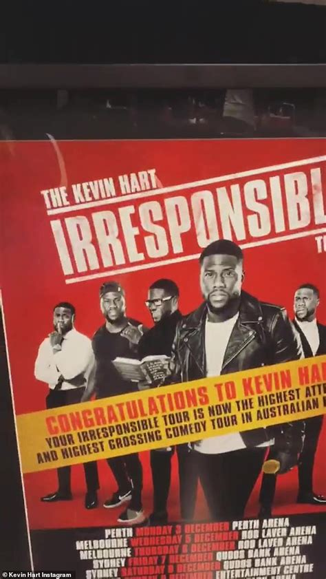 kevin hart irresponsible tour sydney kevin hart grins as he returns to the stage to a warm