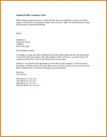 Acceptance Letter For Appointment Offer Letter Email Articleezinedirectory
