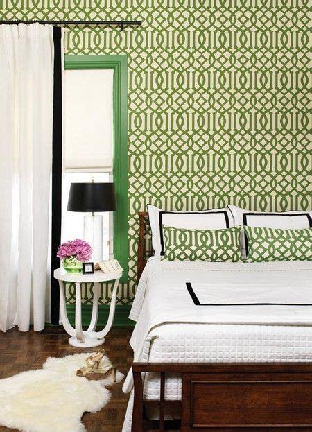 Green Trellis Wallpaper Kelly Wearstler Imperial Trellis Green Pattern