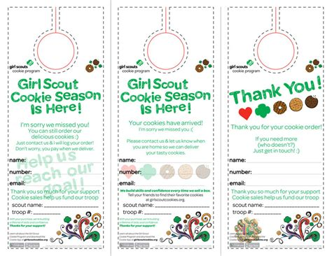 scout cookie sales receipt template your free scout cookie printable