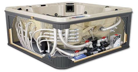 bathtub cutaway hot tub leaking from the bottom hottubworks spa hot tub blog