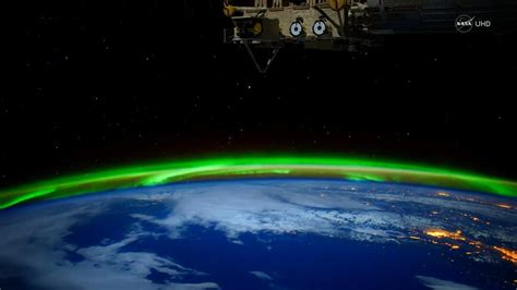 northern lights from space stunning nasa video of northern lights from space