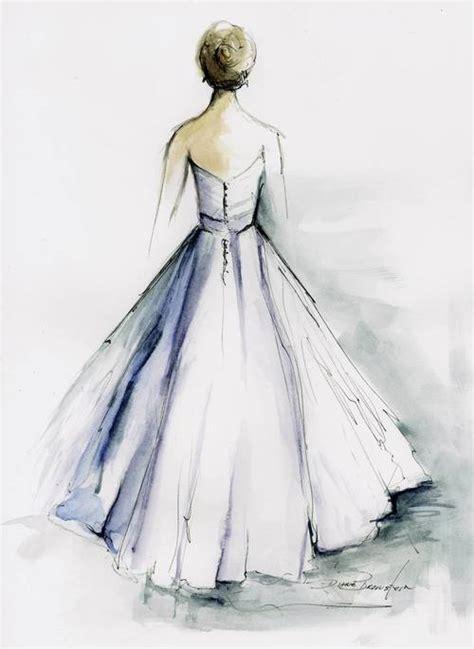 Brautkleider Zeichnen Lernen by Bridal Gown Painting Oh Lovely Day