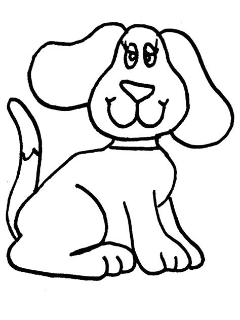 easy printable animal coloring pages simple animal coloring pages simple dog coloring page
