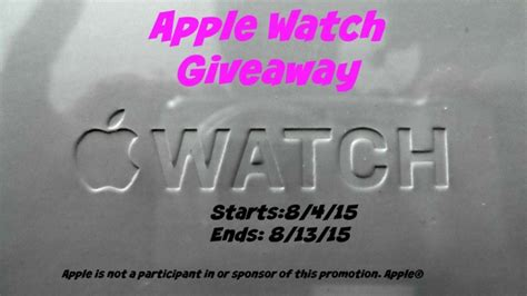 Apple Computer Giveaway - apple watch giveaway sponsored by lollipop and lullaby