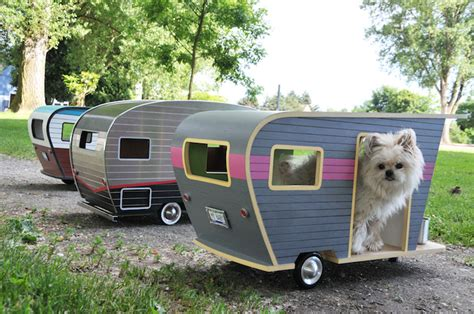 dog house trailer mini pet cers let your pup rough it in style cube breaker