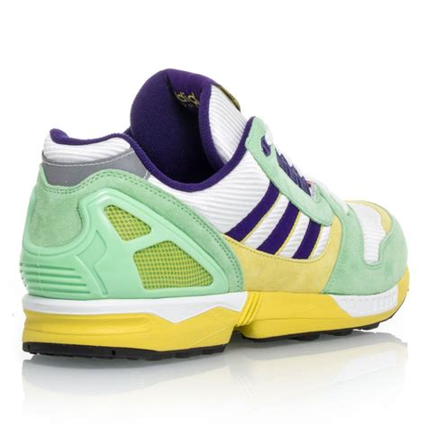 adidas originals zx  mens running shoes white