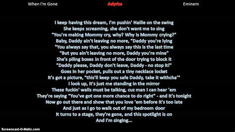 eminem when i m gone lyrics eminem when im gone lyrics youtube