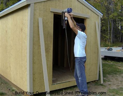 How To Hang Shed Doors by Shed Trim How To Install Shed Trim Icreatables