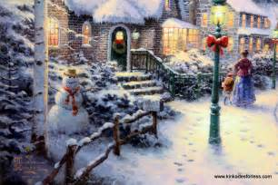 Village christmas on canvas