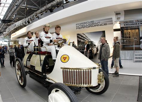 porsche factory porsche factory drivers thrill fans with 1st hybrid before