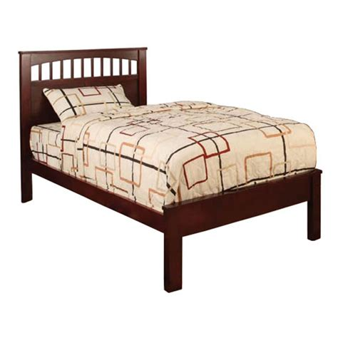 cherry twin bed venetian worldwide cara twin bed cherry finish home furniture bedroom
