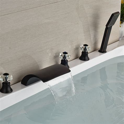 5 Bathtub Faucet by Kautz Luxury 5 Deck Mount Rubbed Bronze Waterfall Bathtub Shower Faucet On Sale With